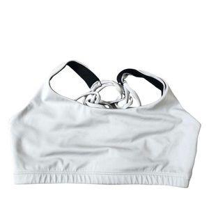 Onzie gray sports bra criss-cross back